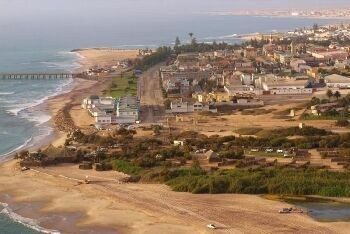 Swakopmund viewed from the south, Namibia