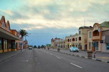 Early hours in Swakopmund, Namibia